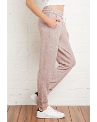 Forever 21 - Purple Marled French Terry Sweatpants - Lyst