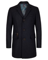 Ted Baker | Gray Alamo Overcoat for Men | Lyst