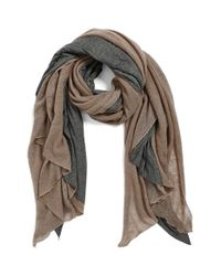 Donni Charm | Brown 'Together Touch' Colorblock Scarf | Lyst
