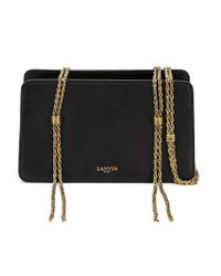 Lanvin - Black Chain Detailed Clutch - Lyst