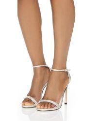 Stuart Weitzman - White Barebraid Sandals - Lyst