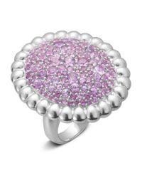 Slane | Nuage Pavé Pink Sapphire Ring | Lyst