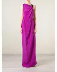 Roland Mouret - Pink 'goddards' Evening Gown - Lyst
