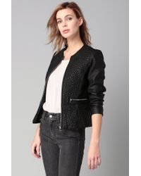 French Connection   Black Chariot Pu Wrapover Jacket   Lyst