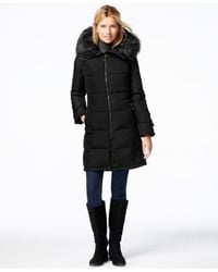 Calvin Klein | Black Faux-fur-trim Puffer Down Jacket | Lyst