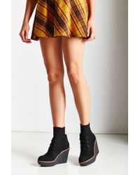 Urban Outfitters - Black Platform Lace-up Ankle Boot - Lyst