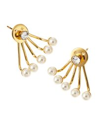 Ca&Lou | Metallic Paired Pixie Pearl Earrings | Lyst