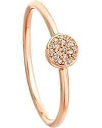 Astley Clarke | Pink 14ct Rose Gold Ring With Grey Diamonds | Lyst