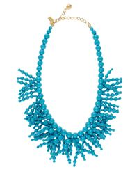 kate spade new york - Blue Fringe Appeal Necklace - Lyst