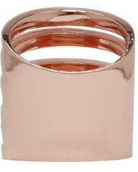 Pamela Love - Pink Rose Gold Single Cage Ring - Lyst