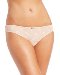Wolford | Pink Lilie Lace Bikini Brief | Lyst