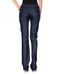Armani Jeans - Blue Denim Trousers - Lyst
