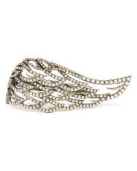 Loree Rodkin   Metallic 18k Oxidised Gold and Grey Diamond Angel Ring   Lyst