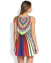 2e33d4c1d457 Mara Hoffman - Multicolor Rays Jersey Swing Mini Dress - Lyst