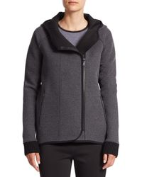 Elie Tahari - Gray Margie Hooded Zip-front Jacket - Lyst