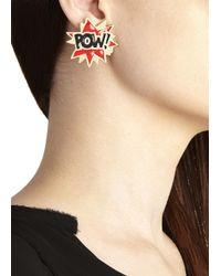 Noir Jewelry - Metallic X Dc Comics Kaboom Pow 18Kt Gold Plated Earrings - Lyst