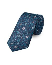 Paul Costelloe | Green Teal Daisy Floral Tie for Men | Lyst