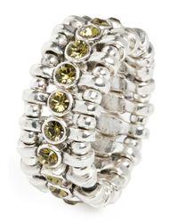 Philippe Audibert | Green Amelia Round Stone Ring | Lyst