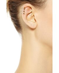 Elise Dray - Cartilage Amour Ear Cuff in Pink Gold - Lyst