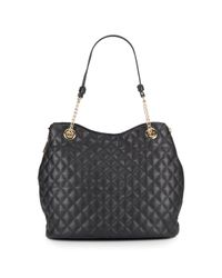 Vince Camuto | Black Leather Chain-detailed Tote Bag | Lyst