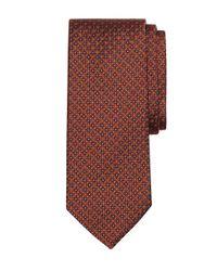 Brooks Brothers - Orange Micro Circle Square Tie for Men - Lyst