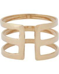 Loren Stewart | Metallic Gold Midi Cuff Ring | Lyst