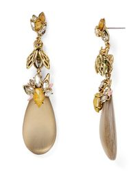 Alexis Bittar | Gray Lucite Bumble Bee Drop Earrings | Lyst