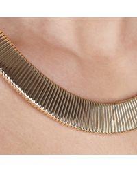 John Lewis - Metallic Gold Toned Flex Necklace - Lyst