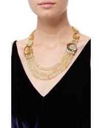 Bounkit | Multicolor Prehnite, Lemon Quartz And Green Amethyst String Necklace | Lyst