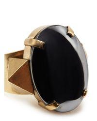 Ela Stone | Black Louise Hemitate Ring | Lyst