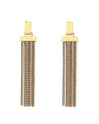 Diane von Furstenberg | Metallic All The Glitz Chain Tassel Earrings | Lyst