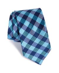 Ted Baker | Blue Check Silk Tie for Men | Lyst
