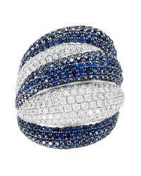 Diana M. Jewels - Metallic 18k White Gold, Diamond & Sapphire Ring - Lyst