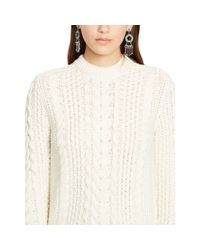 Polo Ralph Lauren - Natural Cable-knit Cotton Sweater - Lyst