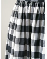 Dolce & Gabbana - Black Long Check Skirt - Lyst