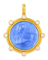 Elizabeth Locke | Metallic Ancient Horse Antique 19k Gold Intaglio Pendant | Lyst