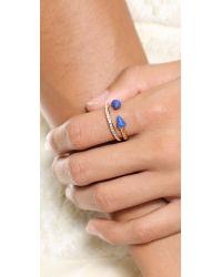 Vita Fede | Blue Ultra Mini Titan Stone & Crystal Ring - Black/White/Rose Gold | Lyst