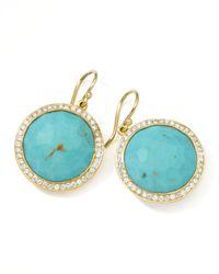 Ippolita - Blue Gold Rock Candy Lollipop Diamond Turquoise Earrings - Lyst