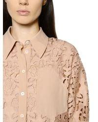 N°21 - Pink Floral Macramé Lace Shirt & Dress - Lyst