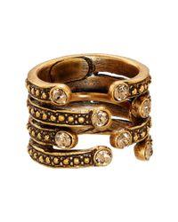 Oscar de la Renta | Metallic Ring | Lyst