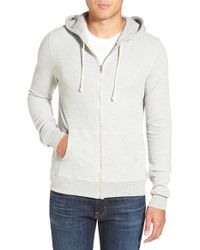 Threads For Thought | Red Waffle Knit Thermal Zip Hoodie for Men | Lyst