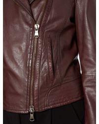 Max Mara | Brown Getti Leather Jacket | Lyst