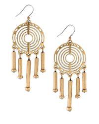 Lucky Brand | Metallic Goldtone Chandelier Earrings | Lyst