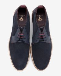 Ted Baker - Blue Suede Desert Boots for Men - Lyst
