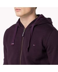 Tommy Hilfiger | Purple Cotton Blend Zip Through Sweater for Men | Lyst