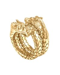John Hardy | Metallic Gold Naga Dragon Coil Ring | Lyst