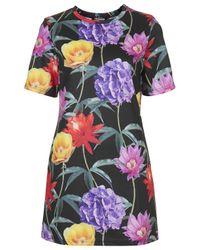 TOPSHOP | Multicolor Womens Floral Print Tshirt Dress by Jaded London  Multi | Lyst