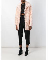 Jeremy Scott - Pink Faux Fur Short Coat - Lyst