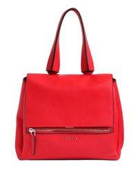 Givenchy - Red Small Pandora Pure Waxed Leather Bag - Lyst