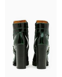 Nasty Gal - Green Mercer Buckled Ankle Boot - Lyst